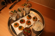 """curry night"" starters"