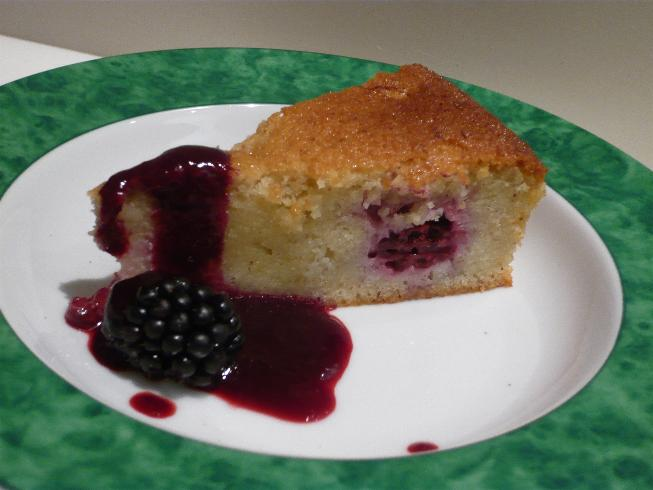 Blackberry and star anise friand