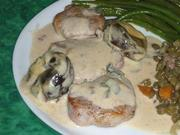 Sauteed loin of pork with Armagnac prunes