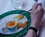 Assiette of tropical fruit