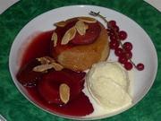 Plum frangipane pudding