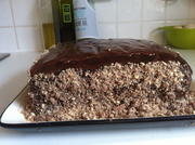 Chocolate Ganache Birthday Cake with chocolate Crumb