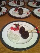 Moroccan Lamb Balls, Watermelon & Feta Salad with Tzatziki