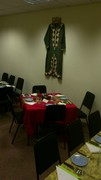 Getting our Moroccan evening all set up