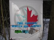 True Canadian Winter Bus Campout