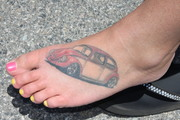 Slammed bus owner's foot
