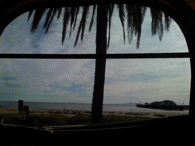 Santa Barbara through the front window.