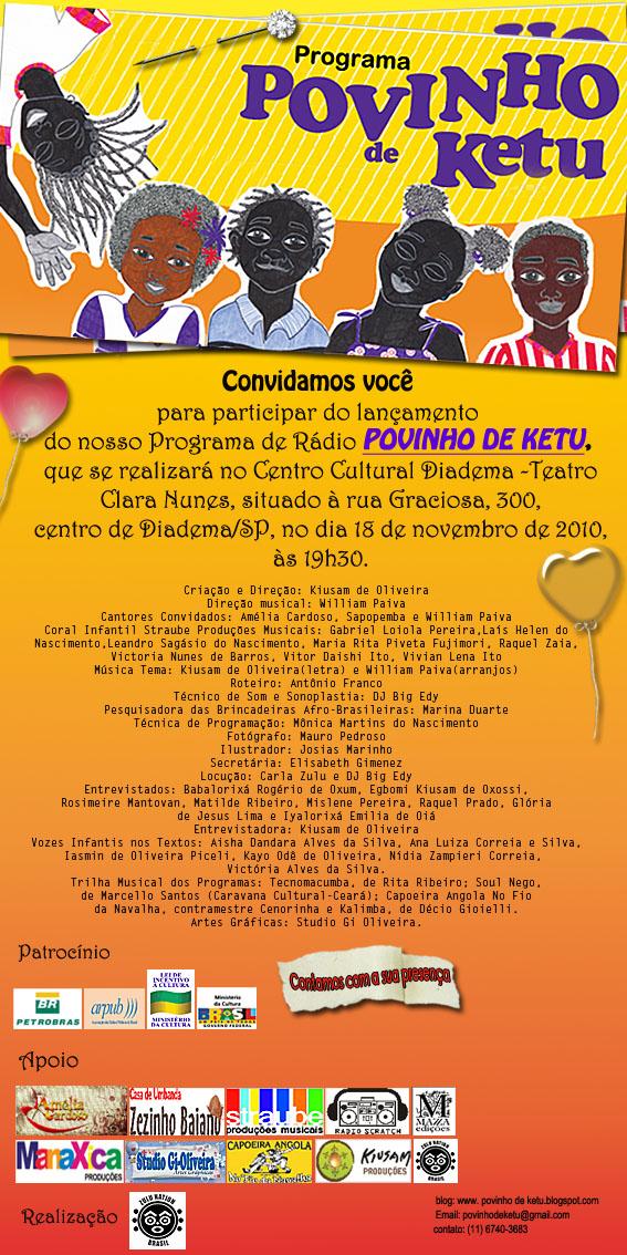 Lançamento do Programa de Rádio Povinho de Ketu