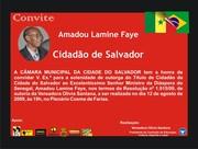 Convite Ministo Lamine Faye.
