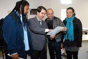 Entrega da Carta do Encontro ao Secretário de Relações com a comunidade do Paraná