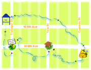 Bee Map for the Parade April 15, 2012