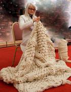 pletenje XXL volnene odeje knitted woolen blanket toncka jankovic slovenia