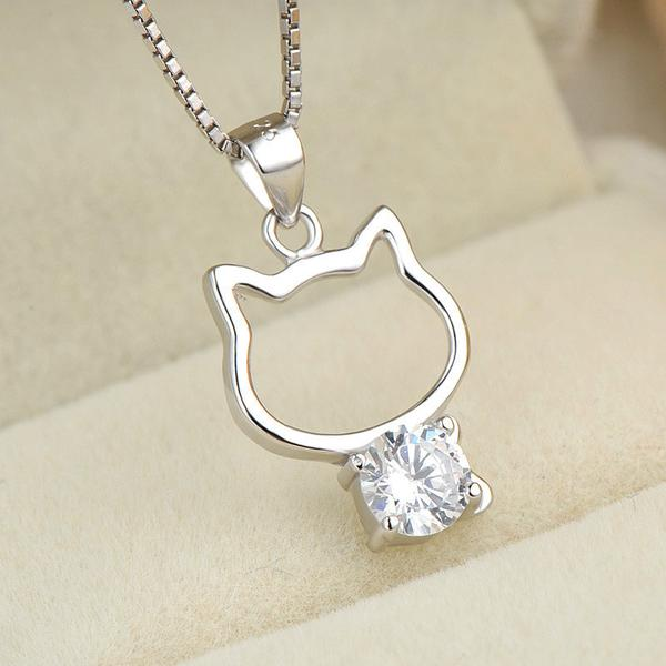 Im a Cat Lover 925 Sterling Silver Necklace