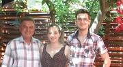 Împreună cu doi buni prieteni și colegi, poetul Petru Fagaraș și poetul Bogdan Turcu