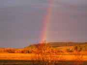 утренняя радуга.