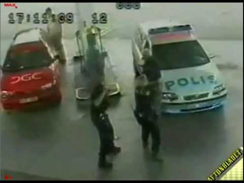 Swedish cops beats 64 year old man