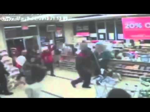 "RAW Video : Brooklyn ""protest"" spills into pharmacy 