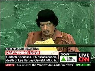 Gaddafi Suggests Israel Behind JFK Assassination