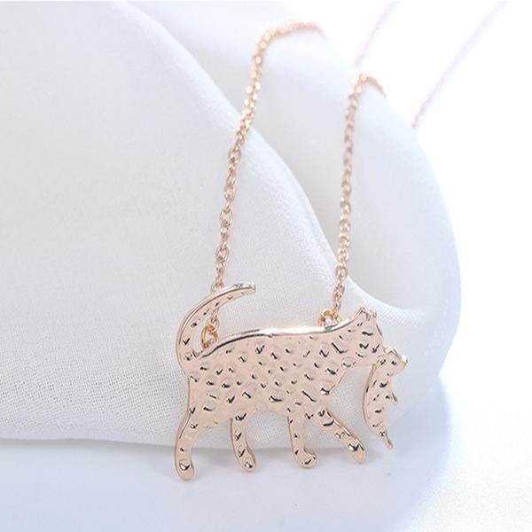 Mama Cat And Kitten Necklace