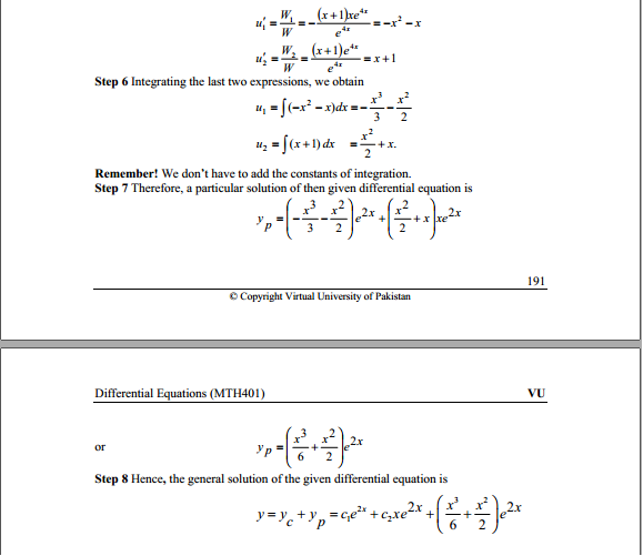 MTH401 - Differential Equations Assignment # 2 Due date: 16/02/2014