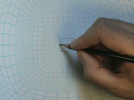 Fisheye Grid Speed Drawing Demo