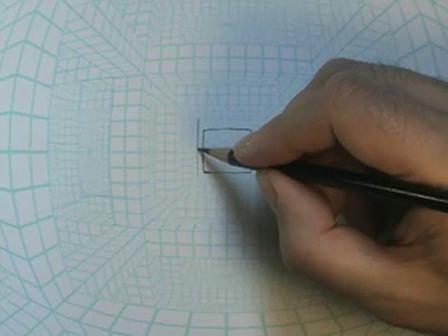Fisheye Grid Speed Drawing Demo