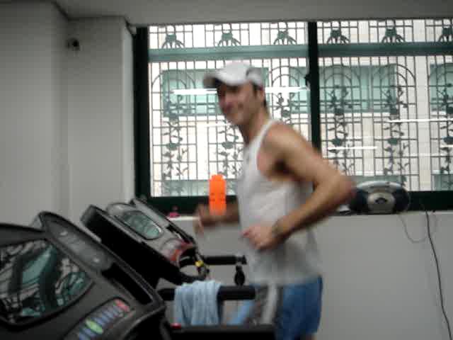 David on the treadmill