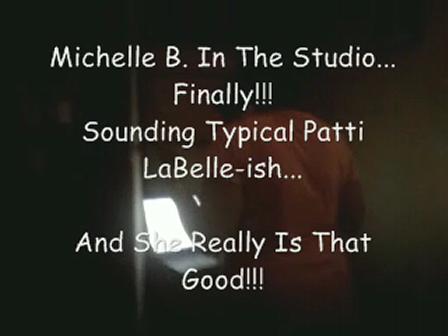 Michelle B In The Recording Studio, Riverside, CA (June - 2010)