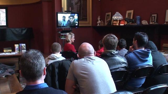 Talking to Gaza in Leighton House Clip 1