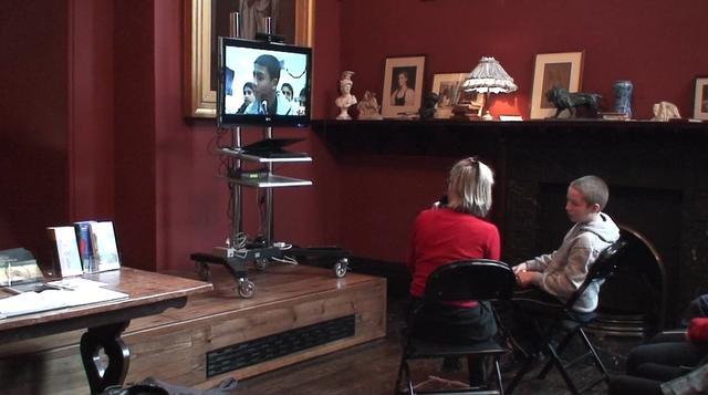 Talking to Gaza in Leighton House Clip 2