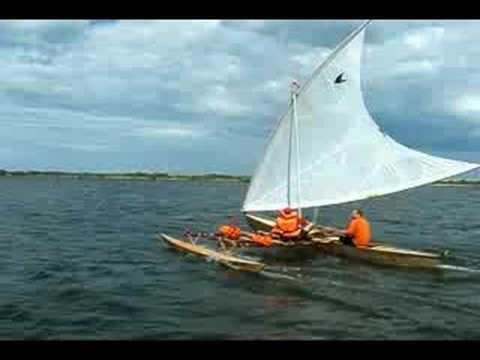 """proa """"Pjoa"""" sailing - Robert's first day"""