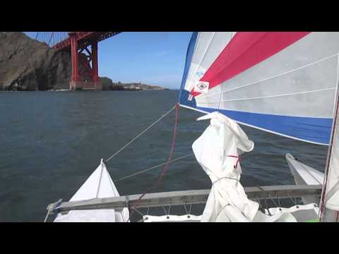 Spinnaker under the Golden Gate