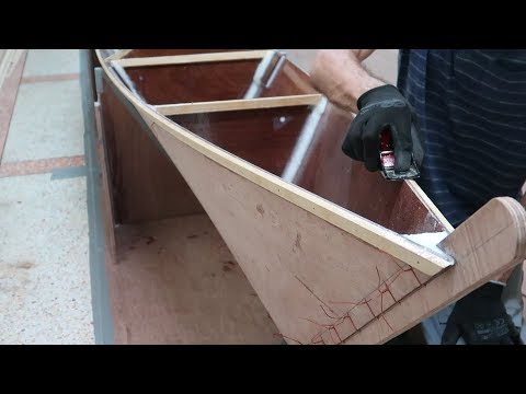 Plane corner off ply hullsides to fit the fore and aft deck - Wharram Hitia 14