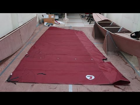 Unboxing sails, running & standing rigging & deck hw from Rolly Tasker Sails - Wharram Hitia 14