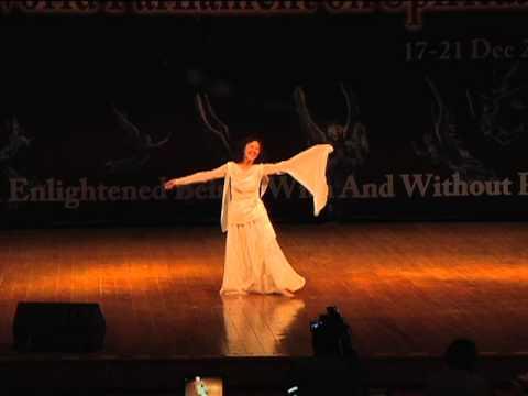 Master Eli Ho dances at 1st World Parliament on Spirituality, Hyderabad, India