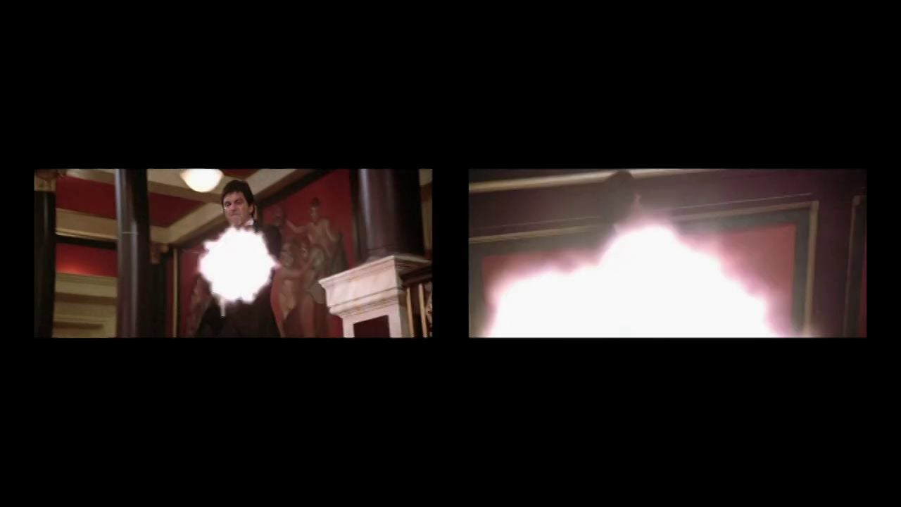 """Scarface Unraveled"" - split screen composite"