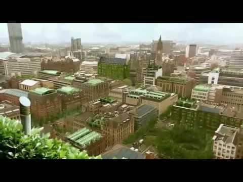 De stad van de toekomst voorzien van zon-, wind-, water- en aardenergie.