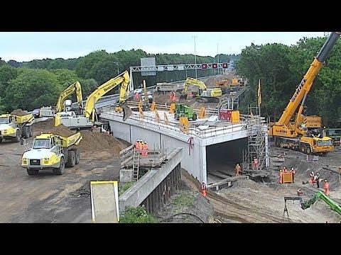 Aanleg tunnel onder de A12... en dat in één weekend tijd!
