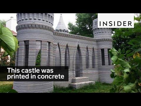 Kasteel volledig 3D geprint in beton.