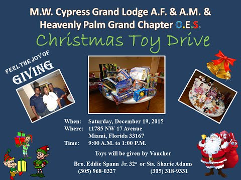 2015 Christmas Toy Drive MW Cypress Grand Lodge A.F. & A.M.