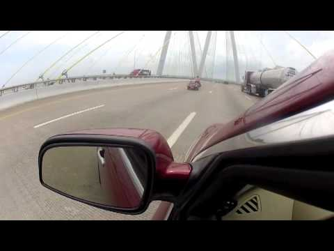 Sunny's 2012 Solo Road Trip - Crossing the Baytown Bridge in Texas