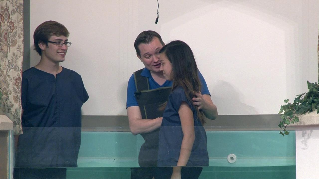 Ian Holmes and Keylee Reyes Baptism! (9-26-12)
