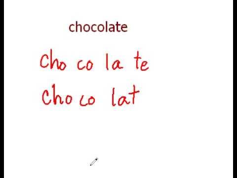 วิธีออกเสียง Chocolate