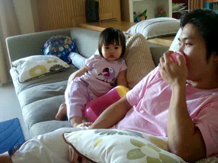Baby Iris VS Daddy Aey