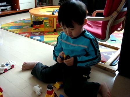 DG playing blocks
