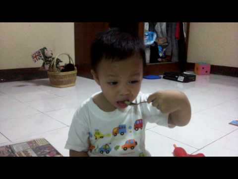 Benny's eating ice cream