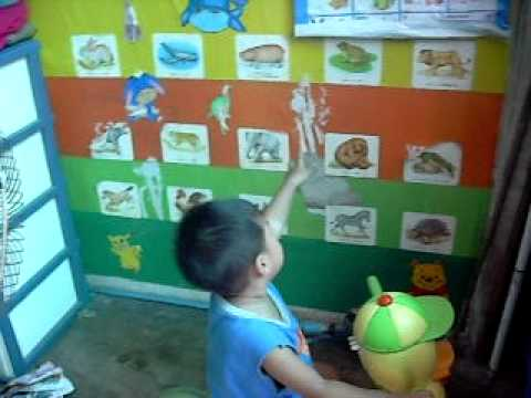 learnning and speaking from flashcard กับ น้องต้นข้าว