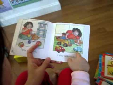Ferngy reads sight word books (1.5 years old)