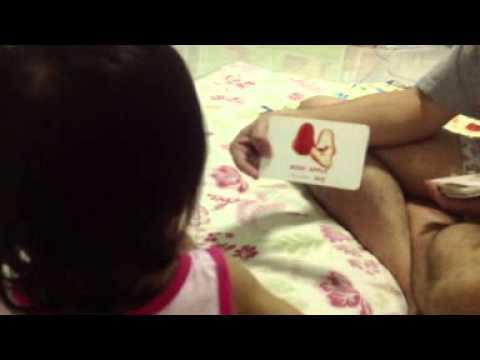 Play fruits flash card