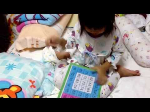 First video for counting number by N'Nice(3 years 6 months).